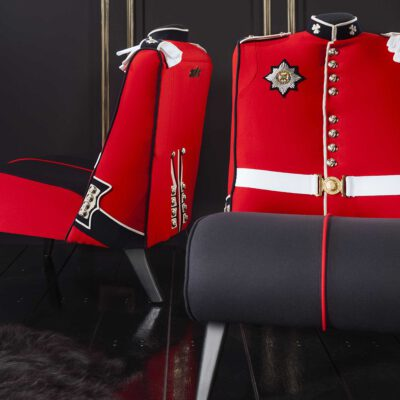 Irish Guard Military Uniform Upholstered Chair