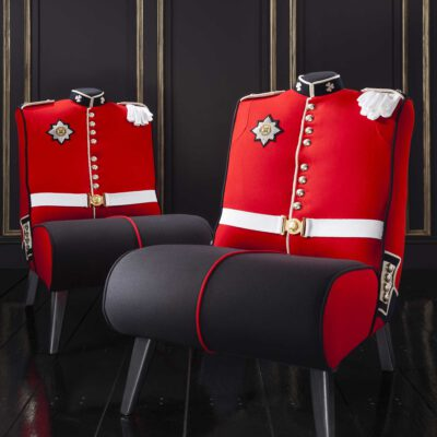Irish Guard Uniform Upholstered Chair