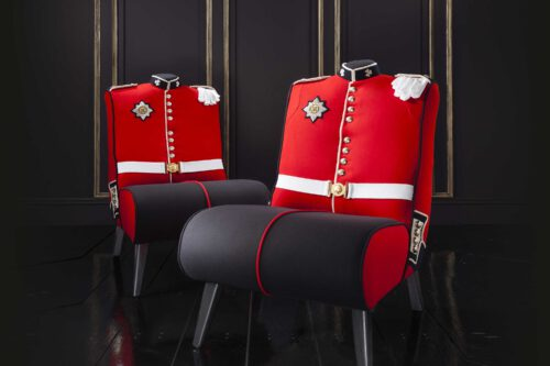 Irish Guard Uniform Upholstered Chair