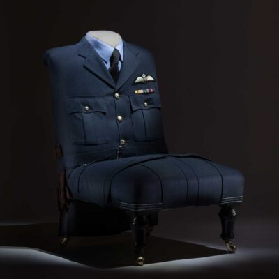 Chair Upholstered with RAF Flight Lieutenants Uniform
