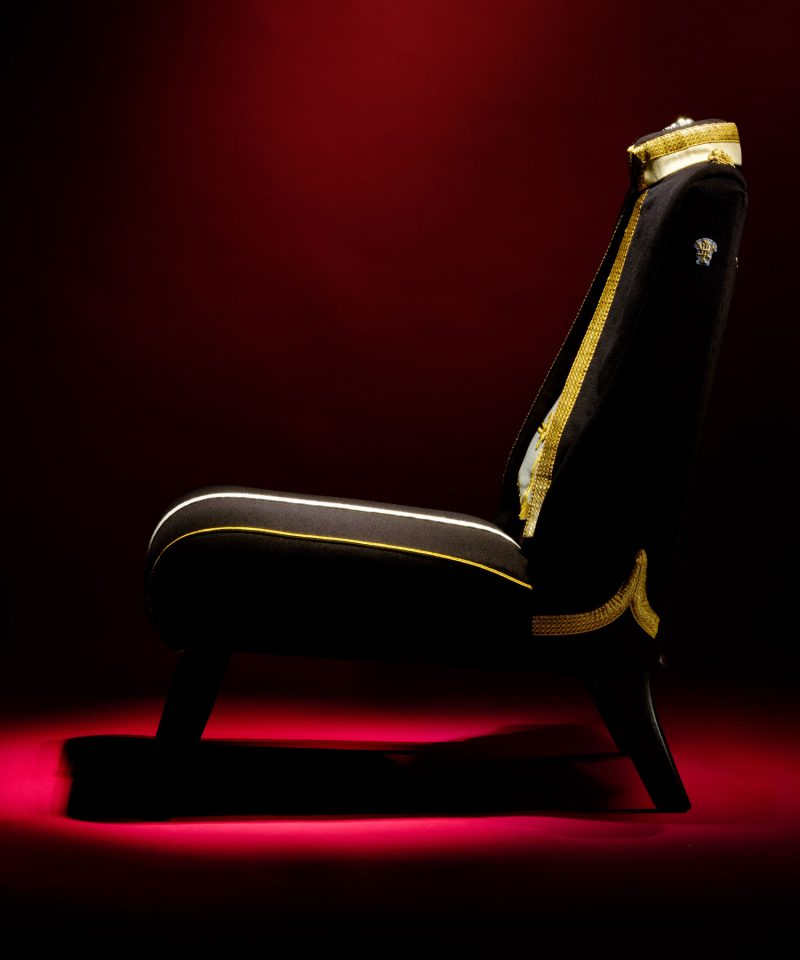 Bespoke Military Uniform Upholstered Chair