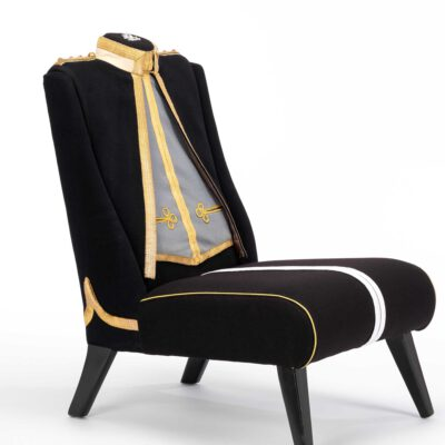 Royal Lancers Military Uniform Upholstered Chair