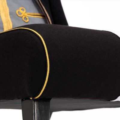 High Quality Royal Lancers Military Uniform Upholstered Chair