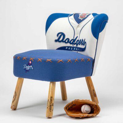Dodgers baseball jersey upholstered chair