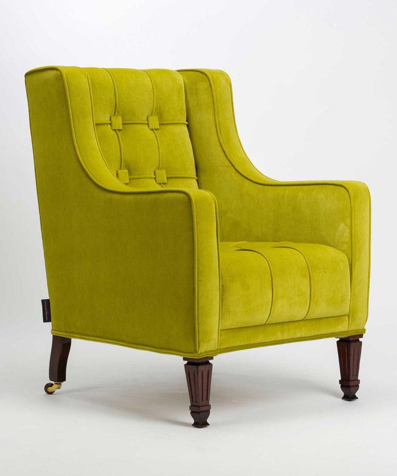 Bespoke Pistachio Velvet Empire Chair