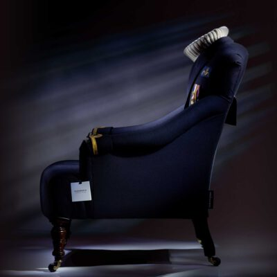 Bespoke commissioned submariner uniform chair