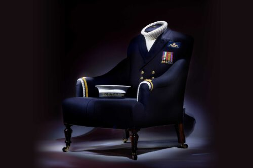 Privately commissioned submariner uniform to chair