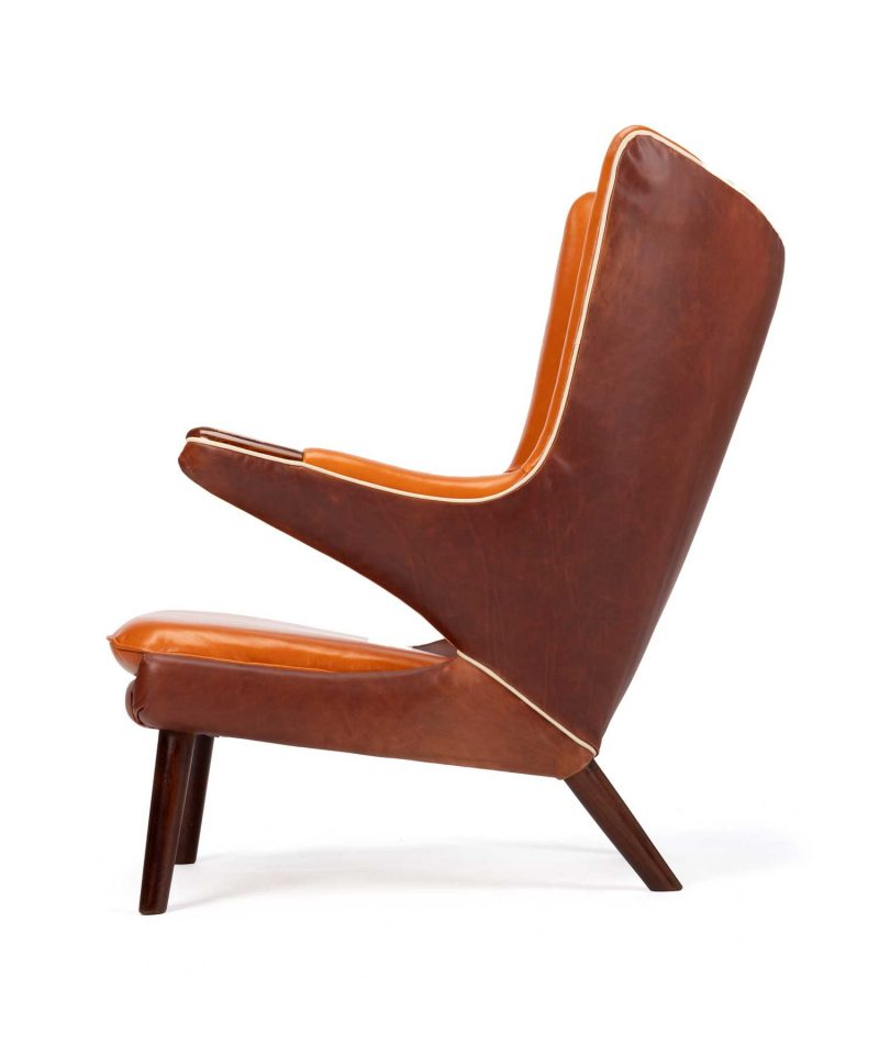 Hans Wegner cognac leather Papa Bear Chair By A. P. Stolen.