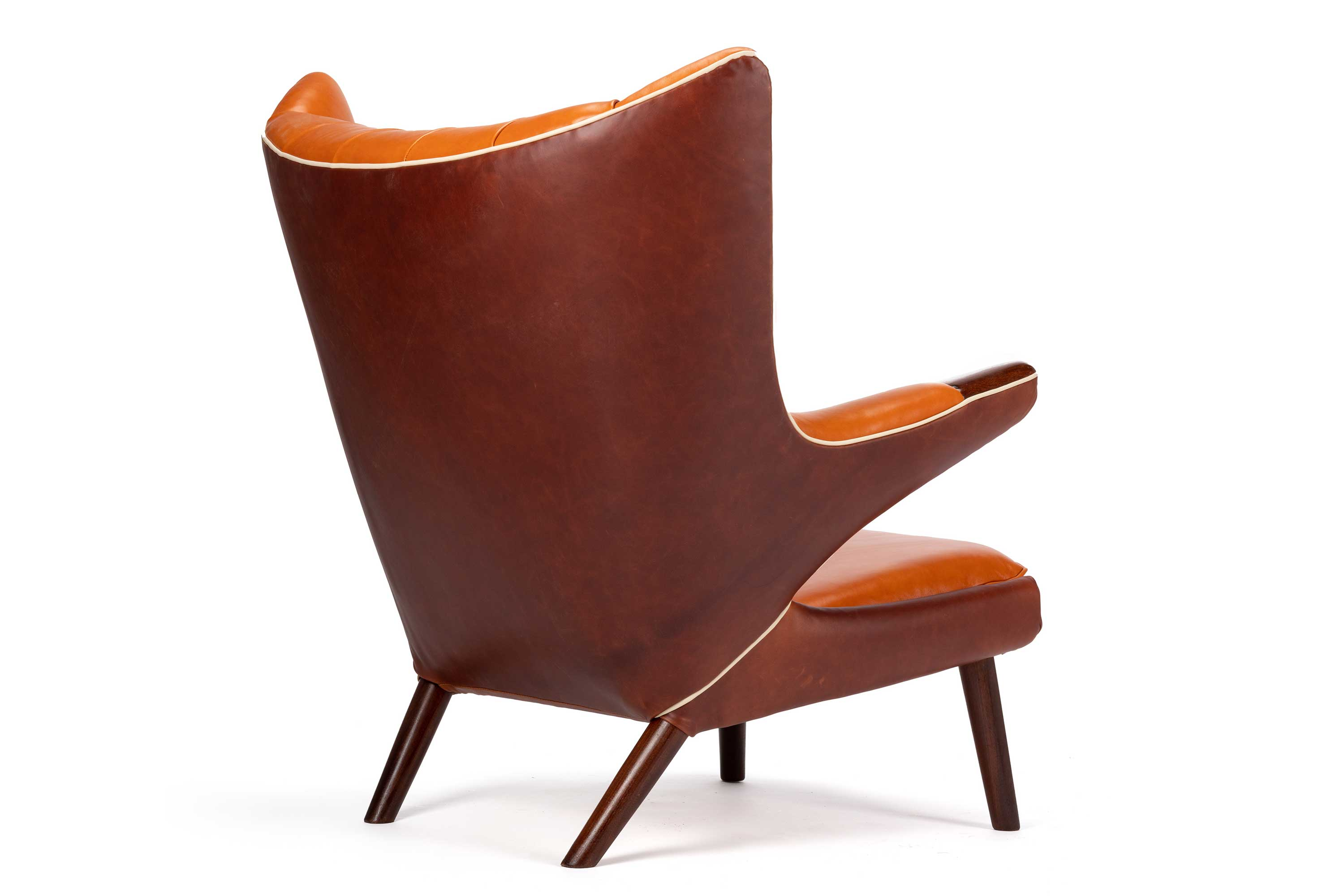 Argentinian leather Papa Bear Chair By Hans Wegner for A. P. Stolen.