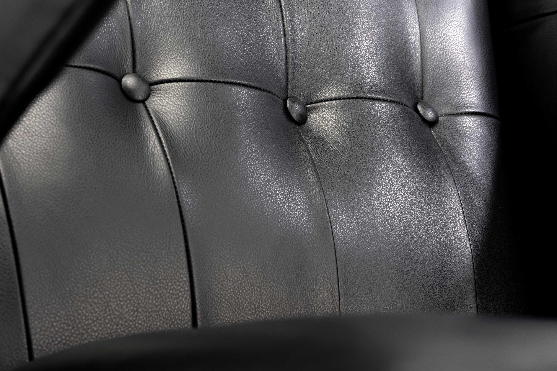 Hans Wegner Black Argentinian Leather Papa Bear Chair