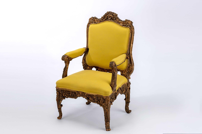 Italian Rococo Giltwood Armchair
