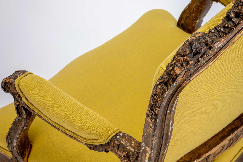 Rococo Baroque Giltwood Italian Armchair