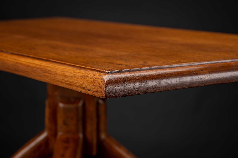 Vintage Oak Deer Hoof Foot Side table