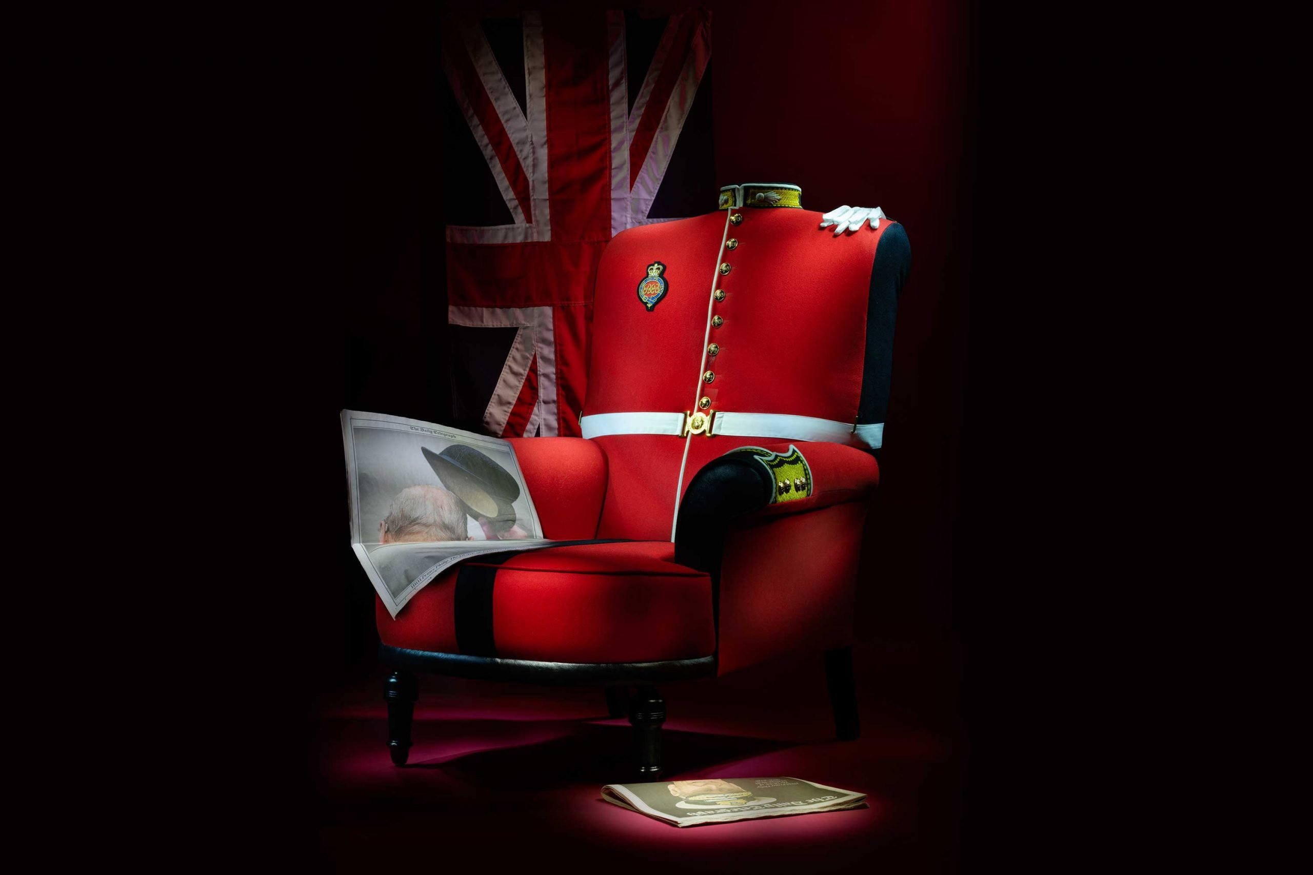 Grenadier Guards Uniform Armchair