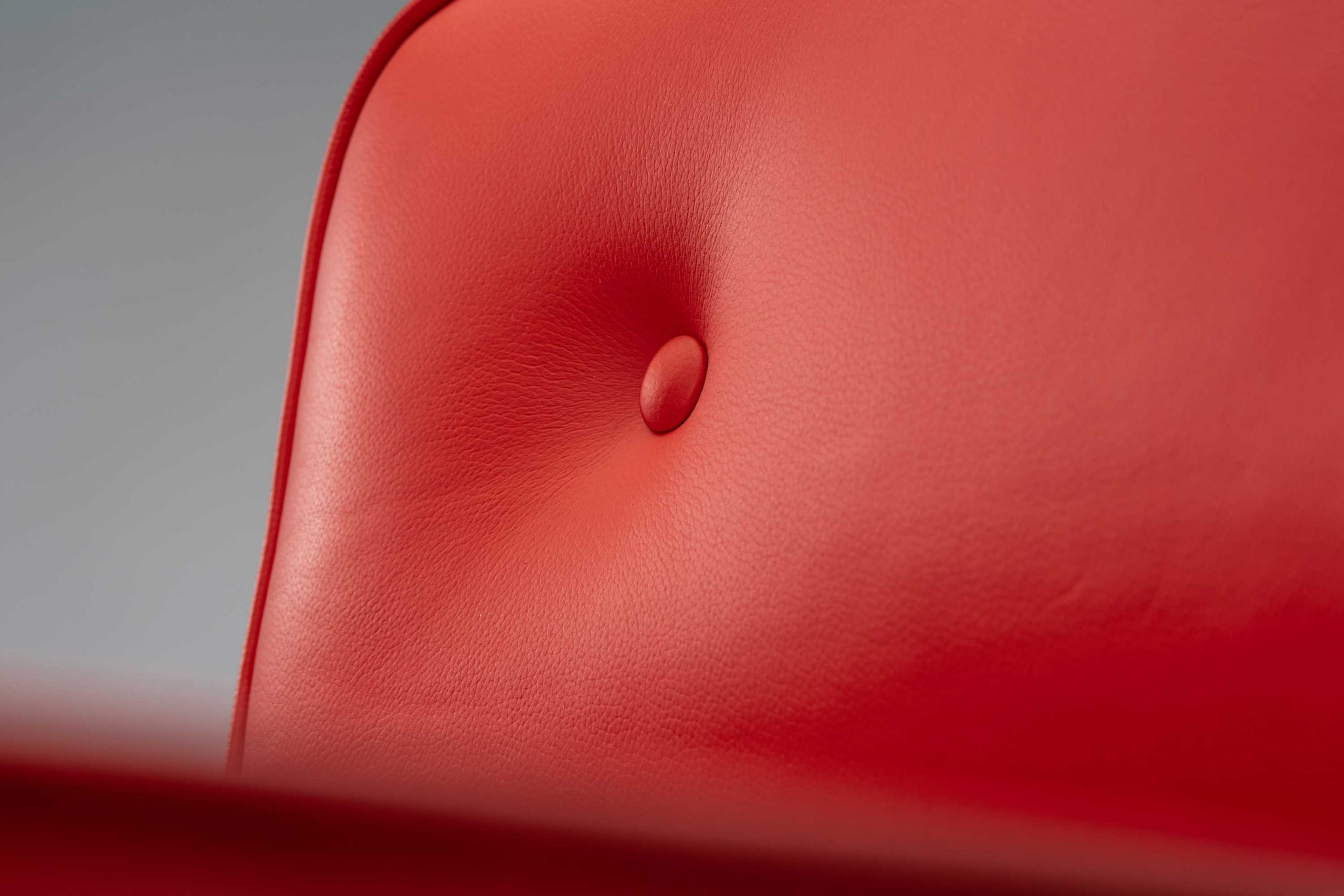 The Vitra Eames beetroot leather 1970s Lobby Chair